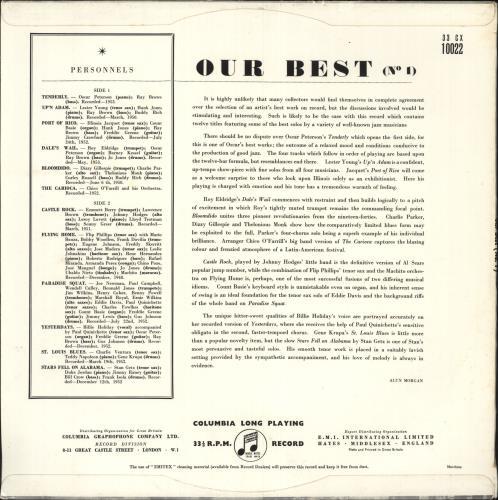 Various-Jazz Our Best No. 1 & 2 2-LP vinyl record set (Double Album) UK V-J2LOU747578