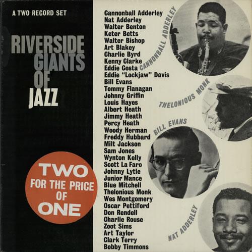 Various-Jazz Riverside Giants Of Jazz 2-LP vinyl record set (Double Album) UK V-J2LRI581812
