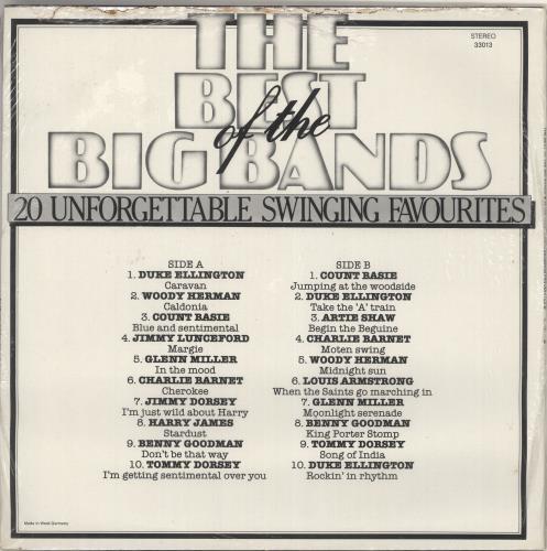 Various-Jazz The Best Of The Big Bands vinyl LP album (LP record) German V-JLPTH726217
