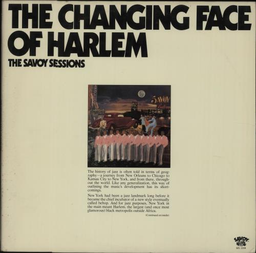 Various-Jazz The Changing Face Of Harlem - The Savoy Sessions 2-LP vinyl record set (Double Album) US V-J2LTH632260