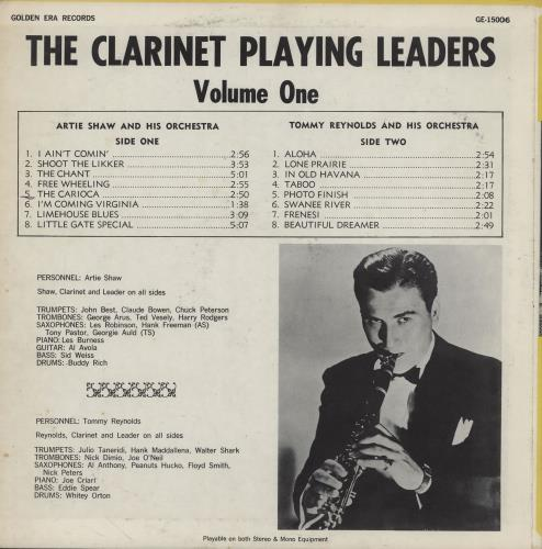 Various-Jazz The Clarinet Playing Leaders Volume One vinyl LP album (LP record) US V-JLPTH757652