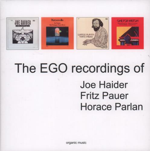 Various-Jazz The EGO Recordings Of Joe Haider · Fritz Pauer · Horace Parlan CD Single Box Set German V-JCXTH670691