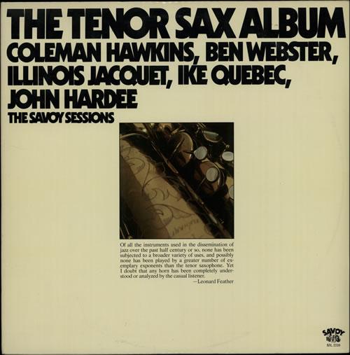 Various-Jazz The Tenor Sax Album 2-LP vinyl record set (Double Album) US V-J2LTH373278
