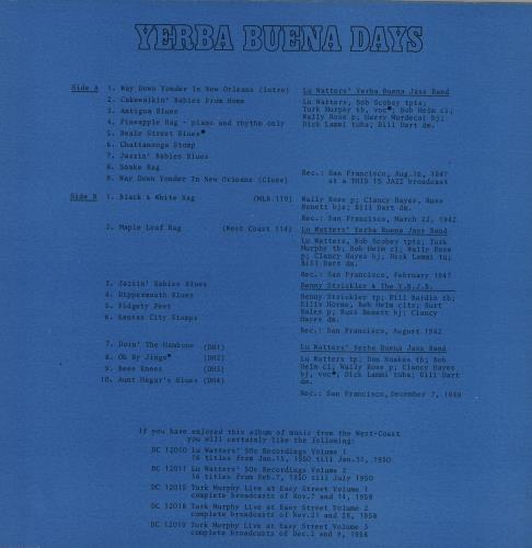 Various-Jazz Yerba Buena Days vinyl LP album (LP record) UK V-JLPYE761348