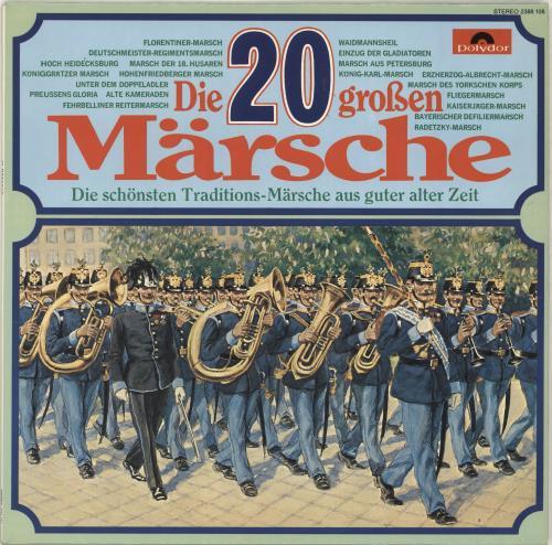 Various-Military Bands Die 20 Großen Märsche vinyl LP album (LP record) German VRBLPDI690962