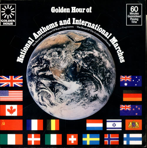 Various-Military Bands Golden Hour Of National Anthems And International Marches vinyl LP album (LP record) UK VRBLPGO499490