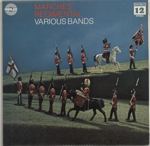 Various-Military Bands Marches Regimental 2-LP vinyl record set (Double Album) UK VRB2LMA690964