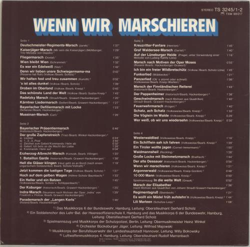 Various-Military Bands Wenn Wir Marschieren 2-LP vinyl record set (Double Album) German VRB2LWE690961