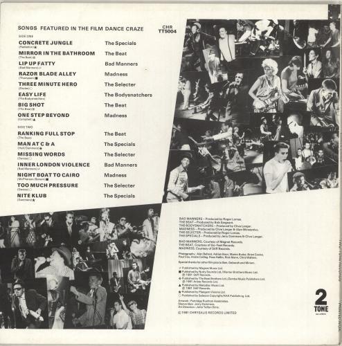 Various-Mod & 2-Tone Dance Craze The Best Of British Ska... Live! vinyl LP album (LP record) UK MVALPDA713117