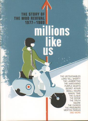 Various-Mod & 2-Tone Millions Like Us: The Story Of The Mod Revival 1977-1989 4-CD album set UK MVA4CMI643390