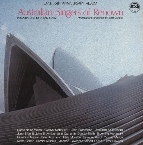 Various-Opera Australian Singers Of Renown vinyl LP album (LP record) Australian VC8LPAU744171