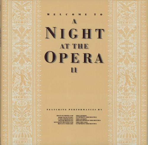 Various-Opera Welcome To A Night At The Opera II 2-LP vinyl record set (Double Album) UK VC82LWE647595