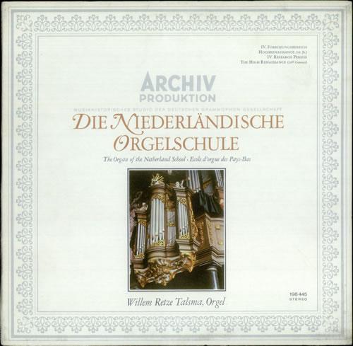 Various-Organs Die Niederlandische Orgelschule vinyl LP album (LP record) German OGNLPDI536457