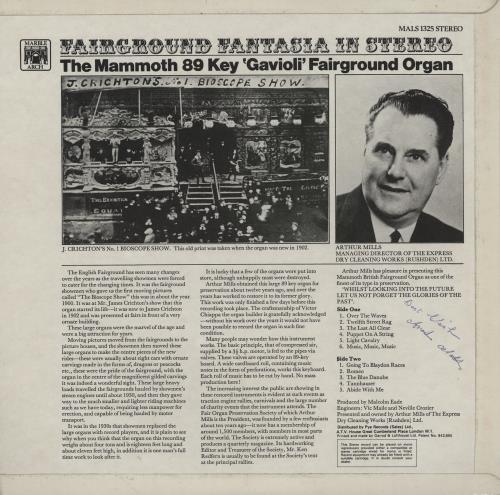 Various-Organs Fairground Fantasia In Stereo vinyl LP album (LP record) UK OGNLPFA763359