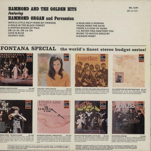 Various-Organs Hammond And The Golden Hits vinyl LP album (LP record) UK OGNLPHA762855
