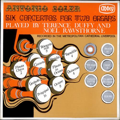 Various-Organs Six Concertos For Two Organs vinyl LP album (LP record) UK OGNLPSI510049