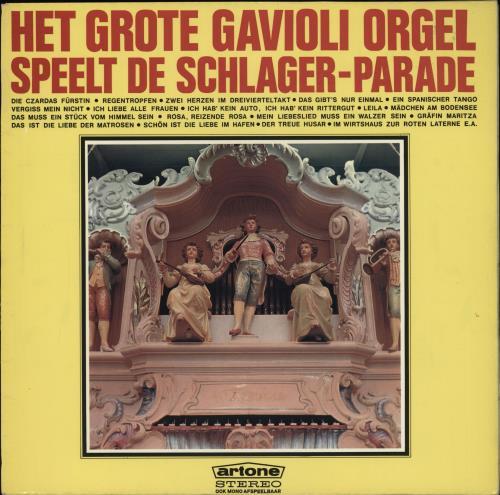 Various-Organs Speelt De Schlager-Parade vinyl LP album (LP record) Dutch OGNLPSP764815