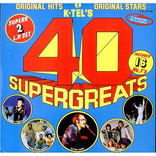 Various-Pop 40 Supergreats 2-LP vinyl record set (Double Album) UK 7VA2LSU411725