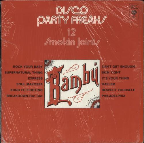 Various-Pop Disco Party Freaks - 12 Smokin' Joints vinyl LP album (LP record) US 7VALPDI728687