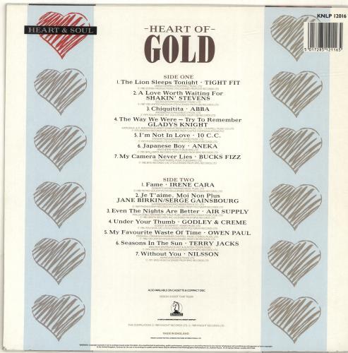 Various-Pop Heart Of Gold vinyl LP album (LP record) UK 7VALPHE693026