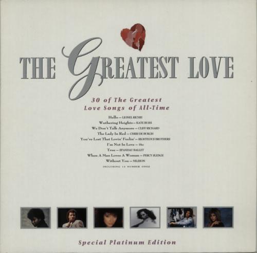 Various Pop The Greatest Love Uk 2 Lp Vinyl Record Set