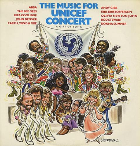 Various-Pop The Music For Unicef Concert / A Gift Of Song UK vinyl LP album  (LP record)