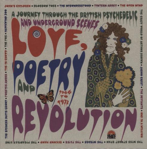 Various-Prog & Psych Love, Poetry And Revolution 3-CD album set (Triple CD) UK LSD3CLO755548