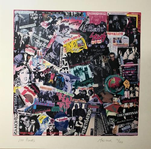 Various-Punk & New Wave 100 Punks Collage - Punk Art Print artwork UK PVAARPU719201