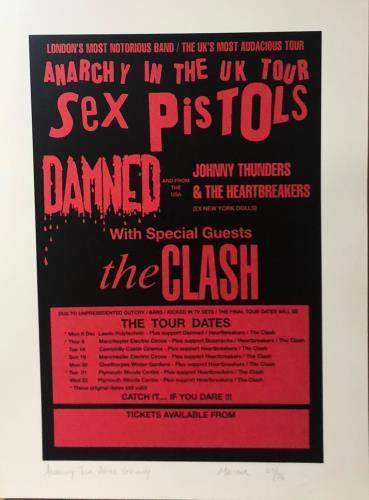Various-Punk & New Wave Anarchy Tour After Grundy - Punk Art Print artwork UK PVAARAN719206