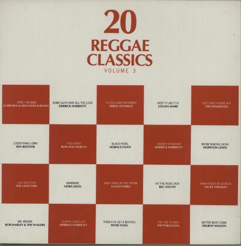 Various-Reggae & Ska 20 Reggae Classics - Volume 3 vinyl LP album (LP record) UK V-ALPRE672648