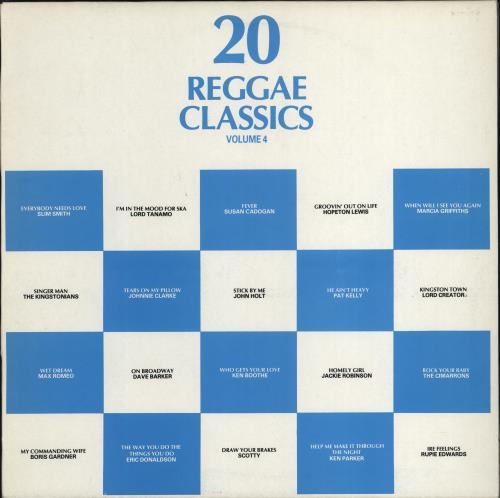 Various-Reggae & Ska 20 Reggae Classics - Volume 4 vinyl LP album (LP record) UK V-ALPRE774396