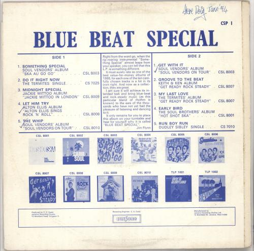 Various-Reggae & Ska Blue Beat Special vinyl LP album (LP record) UK V-ALPBL683793