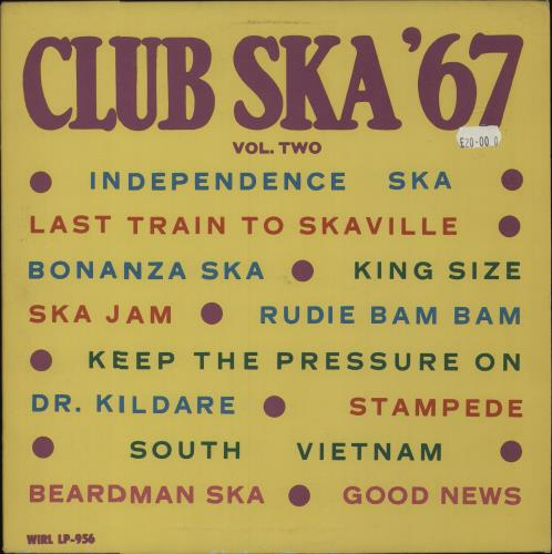 Various-Reggae & Ska Club Ska '67 Vol. Two vinyl LP album (LP record) UK V-ALPCL681512