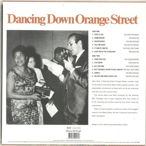 Various-Reggae & Ska Dancing Down Orange Street - 180gram Orange Vinyl - Sealed vinyl LP album (LP record) UK V-ALPDA694908