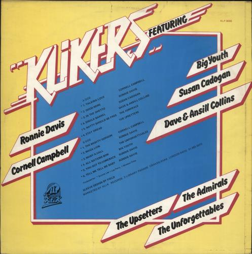 Various-Reggae & Ska Klikers vinyl LP album (LP record) UK V-ALPKL705215