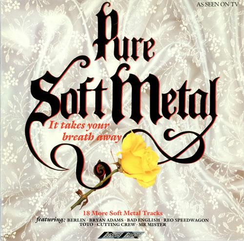 Various-Rock & Metal Pure Soft Metal vinyl LP album (LP record) UK RVALPPU495853