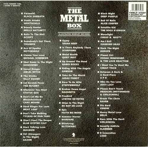 Various Rock Amp Metal The Metal Box Uk Box Set 424727