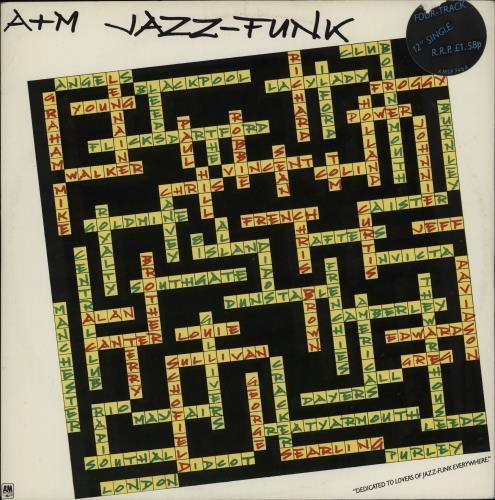 "Various-Soul & Funk A&M Jazz-Funk 12"" vinyl single (12 inch record / Maxi-single) UK SJF12AM764931"