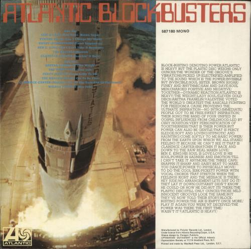 Various-Soul & Funk Atlantic Blockbusters vinyl LP album (LP record) UK SJFLPAT734581