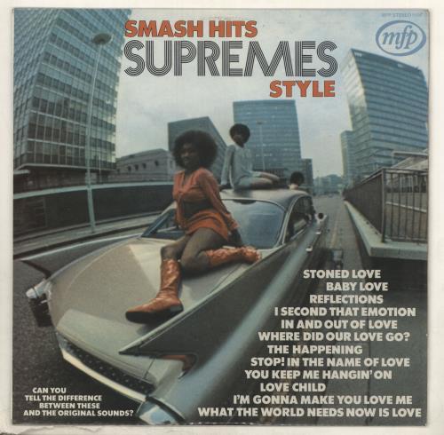 Various-Soul & Funk Smash Hits Supremes Style vinyl LP album (LP record) UK SJFLPSM734907