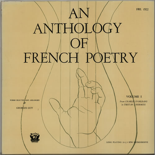 Various-Spoken Word & Poetry An Anthology Of French Poetry Volume I vinyl LP album (LP record) US XB2LPAN635183