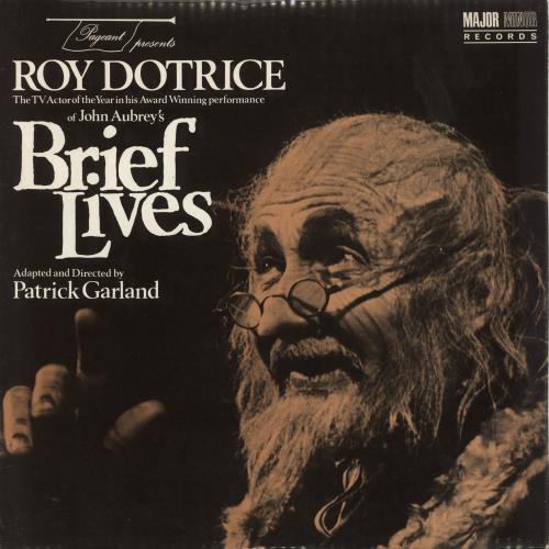 Various-Spoken Word & Poetry Brief Lives vinyl LP album (LP record) UK XB2LPBR711966