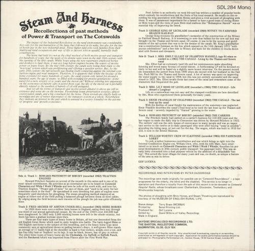 Various-Spoken Word & Poetry Steam And Harness vinyl LP album (LP record) UK XB2LPST710841