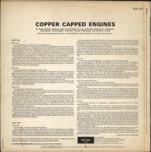 Various-Trains Copper Capped Engines vinyl LP album (LP record) UK V-TLPCO744101