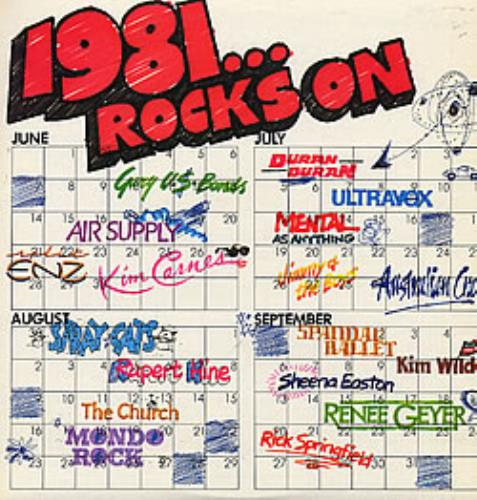 Various Artists 1981... Rocks On vinyl LP album (LP record) Australian VARLPRO276273