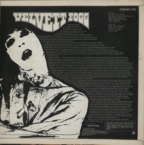 Velvett Fogg Velvett Fogg vinyl LP album (LP record) UK VEFLPVE567369