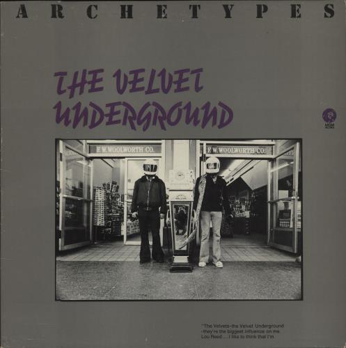 Velvet Underground Archetypes vinyl LP album (LP record) US VUNLPAR180881
