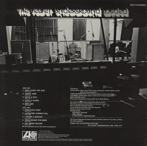 Velvet Underground Loaded vinyl LP album (LP record) German VUNLPLO316482