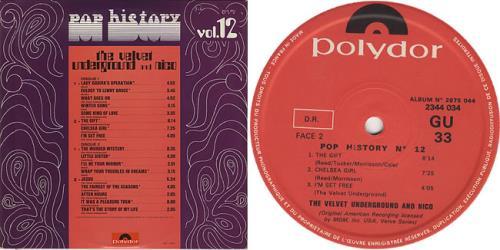 Velvet Underground Pop History Vol.12 2-LP vinyl record set (Double Album) French VUN2LPO153881