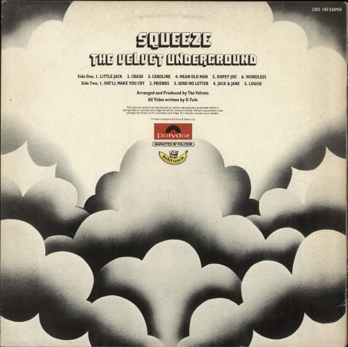 Velvet Underground Squeeze - 1st - EX vinyl LP album (LP record) UK VUNLPSQ708546